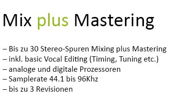 Mix plus Mastering